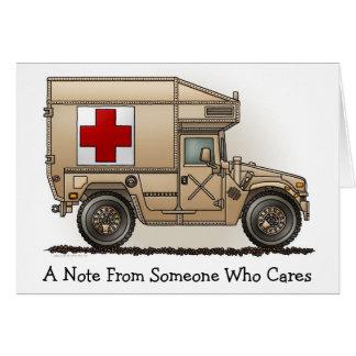 Military Hummer Ambulance Note Card