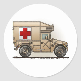 Military Hummer Ambulance Sticker