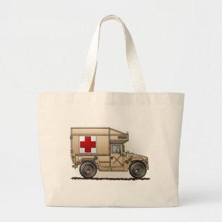 Military Hummer Ambulance Tote Bag