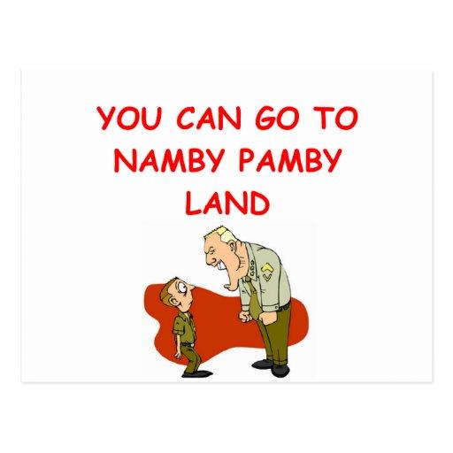 military humor postcard
