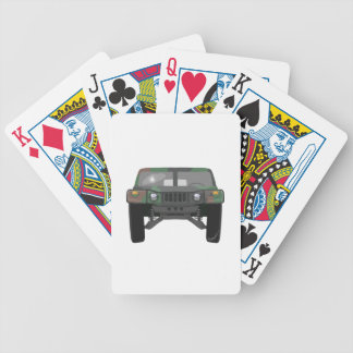 Military Humvee H1 Bicycle Playing Cards