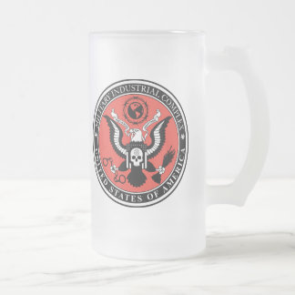 Military Industrial Complex light-01, Military ... Frosted Glass Beer Mug