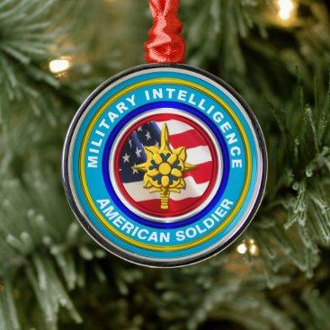 Military Intelligence Veteran Keepsake Christmas Metal Ornament