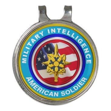 Military Intelligence Veteran Keepsake Golf Hat Clip