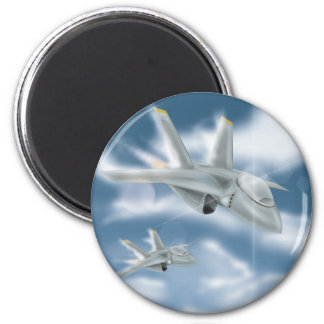 Military Jet Aircraft 2 Inch Round Magnet