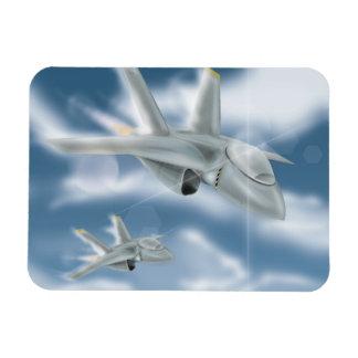 Military Jet Aircraft Rectangular Photo Magnet