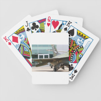 Military jets bicycle poker deck