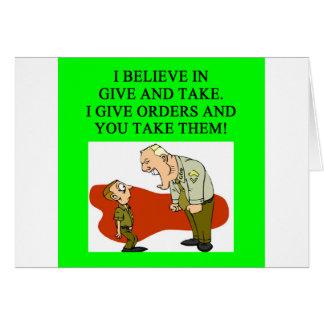 military joke greeting card