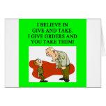 military joke greeting cards