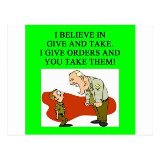 military joke post cards