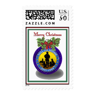 Military K9 Christmas Postage Stamps at Zazzle