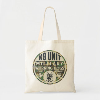 Military K9 Unit Working Dogs Tote Bags