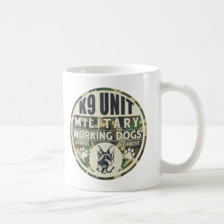 Military K9 Unit Working Dogs Classic White Coffee Mug