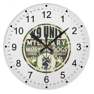 Military K9 Unit Working Dogs Clocks