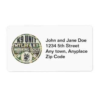 Military K9 Unit Working Dogs Label