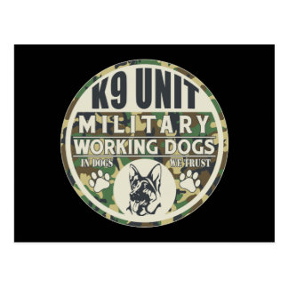 Military K9 Unit Working Dogs Postcard