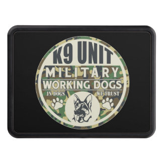 Military K9 Unit Working Dogs Trailer Hitch Covers