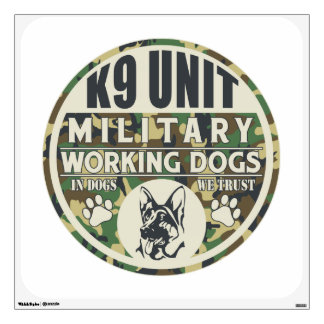 Military K9 Unit Working Dogs Room Graphics