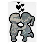 Military Kisses Greeting Card