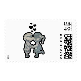 Military Kisses Postage Stamps