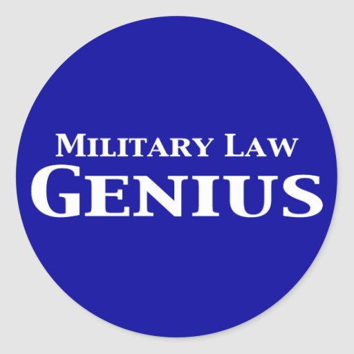 Military Law Genius Gifts Classic Round Sticker