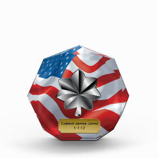 Military Lieutenant Colonel Promotion Octagon Acrylic Award