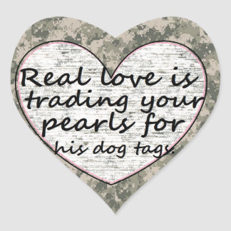 Military Love Heart Sticker