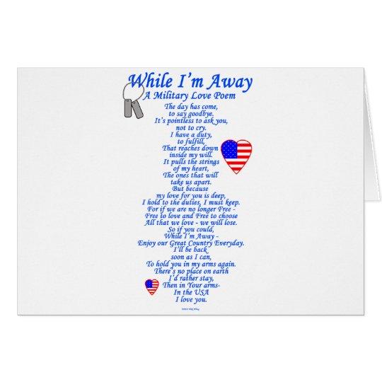 Military Love Poem Card
