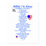 Military Love Poem Postcard