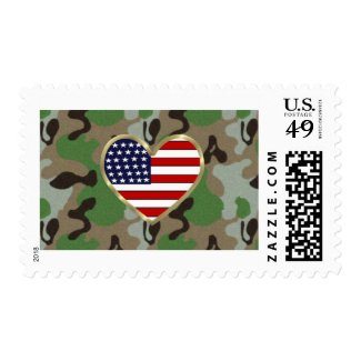 Patriotic Military USA Greeting Stamps