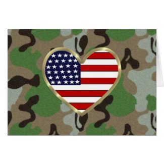 USA American Flag Military Support