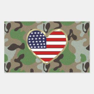 Military Love Rectangle Sticker