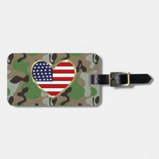 USA Patriotic Military Tags Personalized