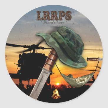 Military LRRPS LRRP recon army marines navy Classic Round Sticker