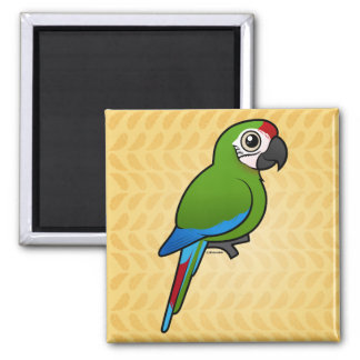 Military Macaw 2 Inch Square Magnet