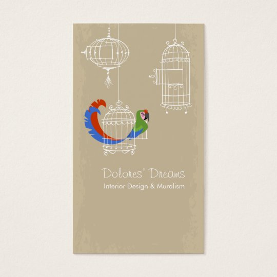 Military Macaw Business Card