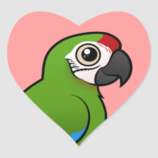 Military Macaw Heart Sticker