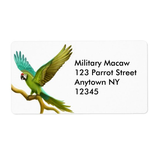 Military Macaw Label