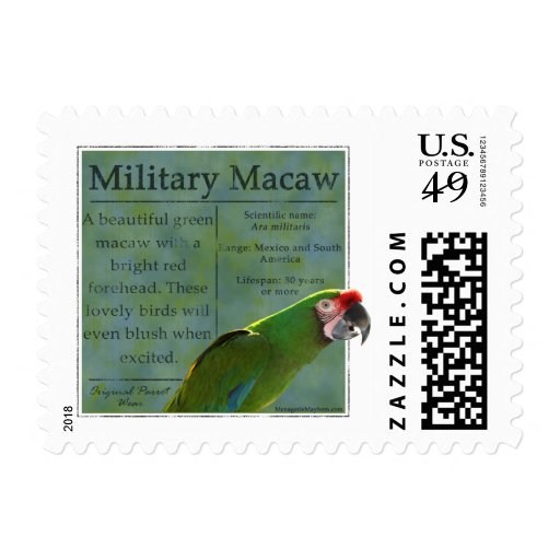 Military Macaw Postage Stamps