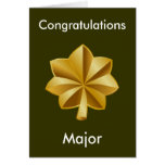 Military Major Promotion Card