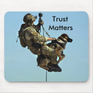 Military Man And His Dog Mouse Pad