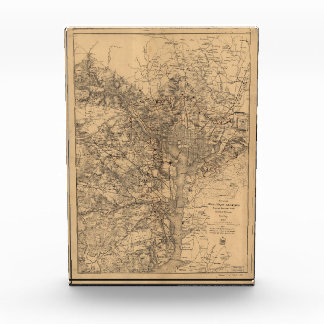 Military Map N.E. Virginia with Forts & Roads 1865 Award