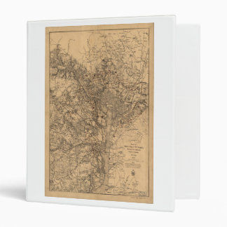 Military Map N.E. Virginia with Forts & Roads 1865 Binders