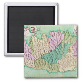Military map of Corsica, 1768 2 Inch Square Magnet