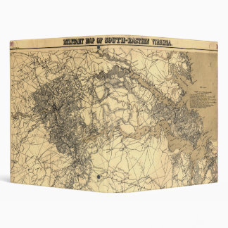 Military Map of South-Eastern Virginia (1864) Binder