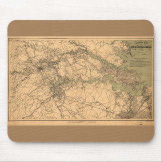 Military Map of South Eastern Virginia (1864) Mouse Pad