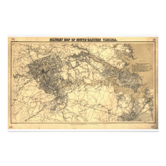 Military Map of South-Eastern Virginia (1864) Stationery