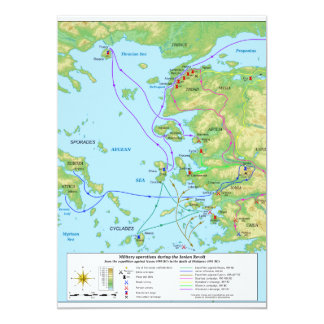 Military Map of the Ionian Revolt Campaign Card
