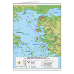 Military Map of the Ionian Revolt Campaign Greeting Card