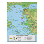 Military Map of the Ionian Revolt Campaign Print